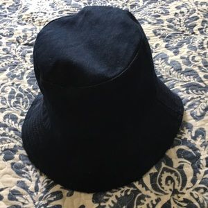 100% cotton dark blue denim hat